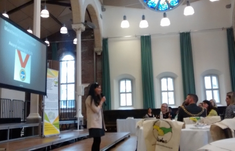 facilitator Katie Clark at MPCF's launch event