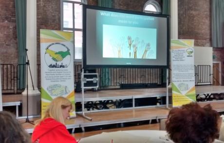 parent participation activity at MPCF's launch event