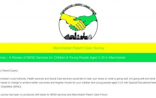 screenshot of the Manchester SEND Survey for autumn 2017