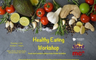 Poster for the Cookery and Nutrition #2 course | With Porter Nutrition and Manchester Carers Network | Image Source: liftedcarerscentre.org.uk