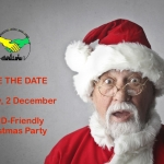 Poster for MPCF's SEND Christmas Party | Includes a Christmas-themed background with loads of Christmas gifts | image credits: bruce mars from pexels.com