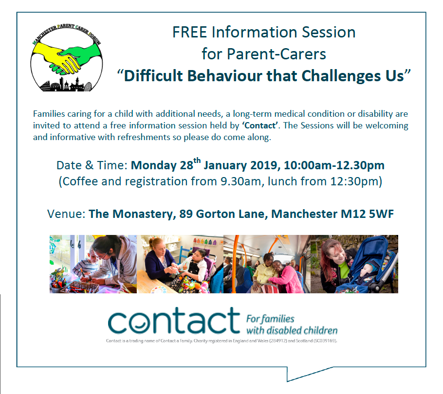 """Teaser for MPCF's """"Difficult Behaviour That Challenges Us"""" course"""