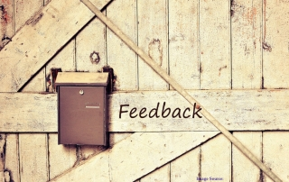 Stock image saying 'Feedback' on a wooden fence with a mailbox | image credit: User Pixabay.com on Pexels.com