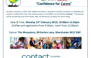 "Teaser for MPCF's ""Confidence for Carers"" course"