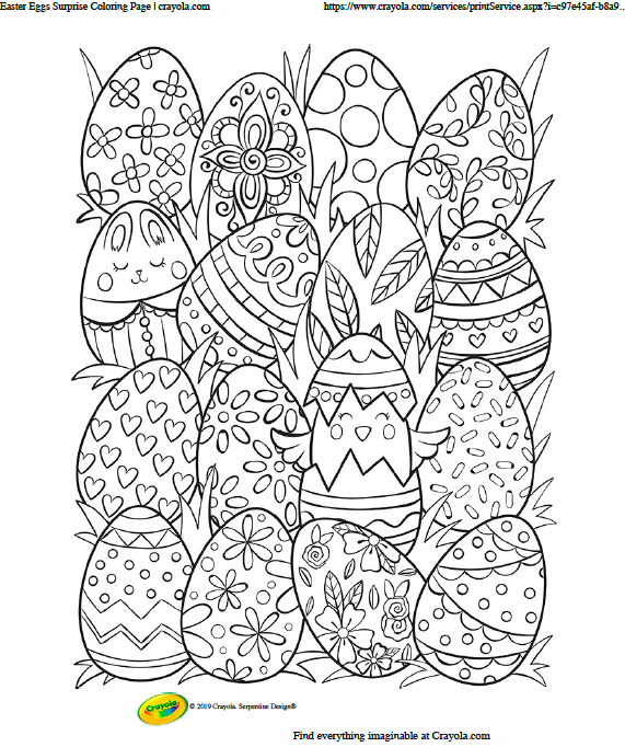 16 Easter eggs of different designs   Image source: Crayola.com