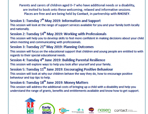 Info Sharing: Free Information Sessions for Parent-Carers