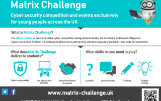 cropped version of the Matrix Challenge poster | image source: www.matrix-challenge.uk