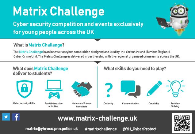 cropped version of the Matrix Challenge poster | image source: www.matrix-challenge.uk