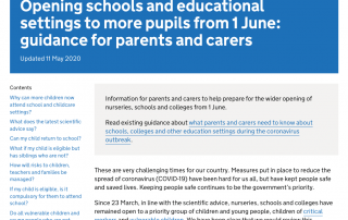 screenshot of the https://www.gov.uk/government/publications/closure-of-educational-settings-information-for-parents-and-carers/reopening-schools-and-other-educational-settings-from-1-june web page