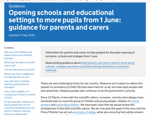 Phased Reopening of Schools and Educational Settings