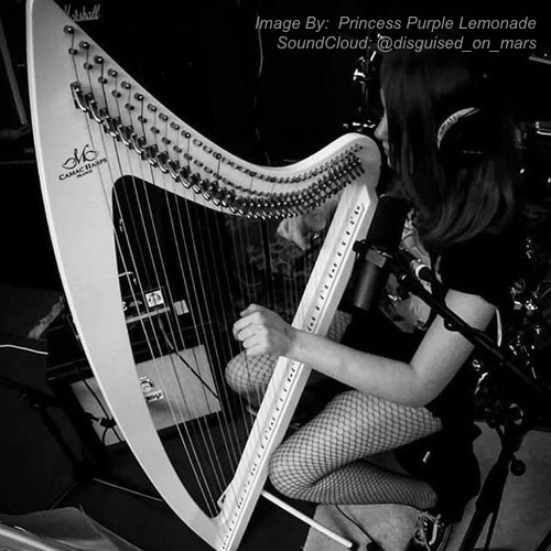 Princess Purple Lemonade is playing the harp. | Photo credit: https://soundcloud.com/disguised_on_mars