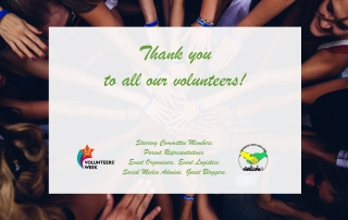 A thank you message for MPCF's volunteers in 2020 | Photo Credits: main image from Perry Grone via Unsplash.com; Volunteers' Week logo via volunteersweek.org