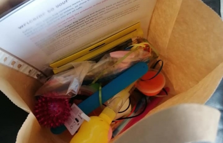 the contents of one Paperbag Sensory and Activity Pack