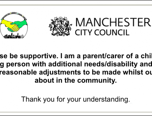 Manchester Reasonable Adjustments Card for SEND