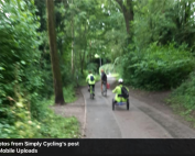 Riders out and about in Manchester's green spaces with Simply Cycling | photo credit: Simply Cycling on Facebook