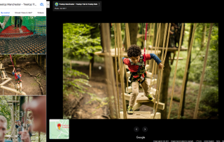 A child trying a Treetop Trek course in Manchester | Photo credit: Treetop Manchester via Google Maps
