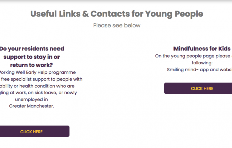 "A screenshot of IASM's ""Useful Links & Contacts for Young People"" page as of 2020-08-11 at 16.52.33"