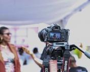 A camera filming a woman | photo credit: pexels via pixabay.com
