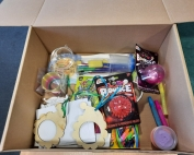 A sample Christmas Sensory Box from MPCF and 4CT Limited