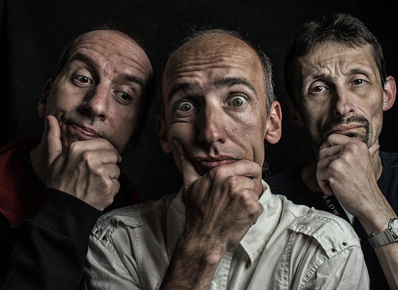 3 men holding their chins | photo credit: Szilárd Szabó via Pixabay.com