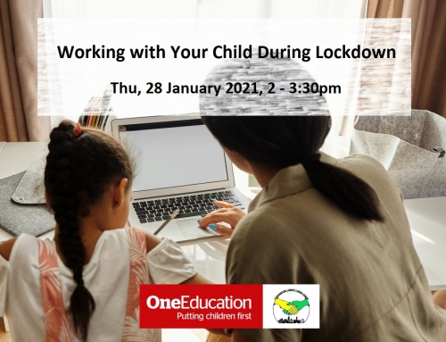 "Fully booked ""Working with Your Child During Lockdown"" Parent Training"