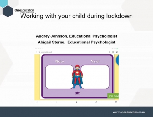 "Video Recording and Slides from ""Working with Your Child During Lockdown"""