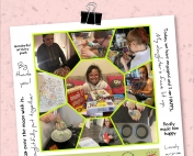 A collage showing some children and young people that are enjoying the winter sensory & activity packs, as well as some feedback from parents and carers. The bottom of the image shows the logos of 4CT Limited, Manchester City Council, Manchester Parent Carer Forum, and Manchester Parent Champions, respectively.