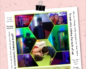 A collage showing some families that were enjoying the free sessions at Redbank House's sensory rooms, as well as some feedback from parents and carers. The bottom of the image shows the logos of Redbank House, Manchester City Council, Manchester Parent Carer Forum, and Manchester Parent Champions, respectively.