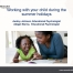 Screenshot of the cover slide for the parent workshop. It shows One Education's logo, the workshop title, the names of the trainers, and a photo of a mother and daughter smiling while reading.
