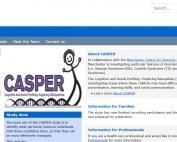 Screenshot of the CASPEr study's website