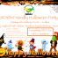 Poster for MPCF's SEND Halloween Party | Includes a halloween-themed frame (with bats, pumpkin, ghost, etc) and costumed children in the background